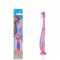 Детская зубная щётка Baby-Brush FlossBrush NEW с 6 лет, розовая