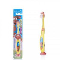 Детская зубная щётка Baby-Brush FlossBrush NEW с 6 лет, желтая
