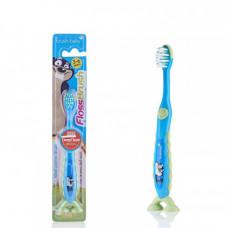 Детская зубная щётка Baby-Brush FlossBrush NEW от 3 до 6 лет, синяя