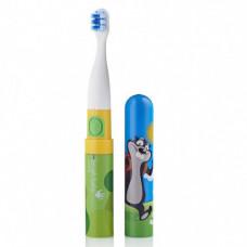 Детская электрическая зубная щетка с наклейками Brush-Baby Go-Kidz™ от 3-х лет, цвет - Mikey
