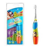 Электрическая звуковая зубная щетка Brush-Baby KidzSonic, 3-6 лет, голубая