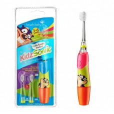 Электрическая звуковая зубная щетка Brush-Baby KidzSonic , 3-6 лет, розовая