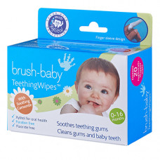 Brush-Baby DentalWipes детские зубные салфетки-напалечники, 20 шт/уп.