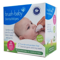 Brush-Baby DentalWipes детские зубные салфетки-напалечники, 28 шт/уп.