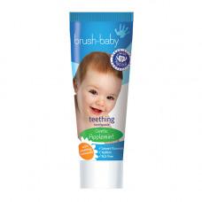 Детская зубная паста Brush-Baby Teething Toothpaste  для прорезывающихся зубов от 0-2 лет, 50 мл (яблоко/мята)