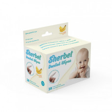 Sherbet Dental Wipes детские зубные салфетки-напалечники