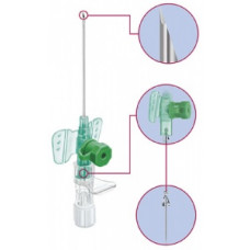 Катетер периферический Vasofix Safety (Вазофикс Сэйфти)с дополнительным портом 22G (0.9х25 мм)